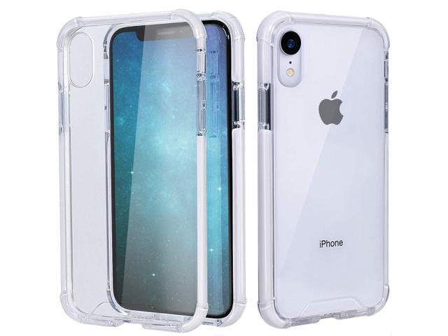 online retailer a97b3 59f06 MATEPROX iPhone XR Case Clear Anti-Yellow Heavy Duty Bumper Protective  Shockproof Case for iPhone XR 6.1''(Clear White) - Newegg.com