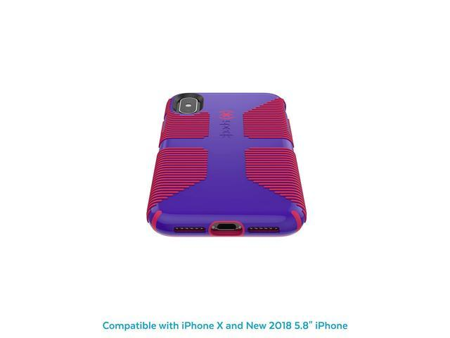 Speck Products CandyShell Grip iPhone Xs/iPhone X Case, Ultraviolet  Purple/Ruby Red - Newegg com