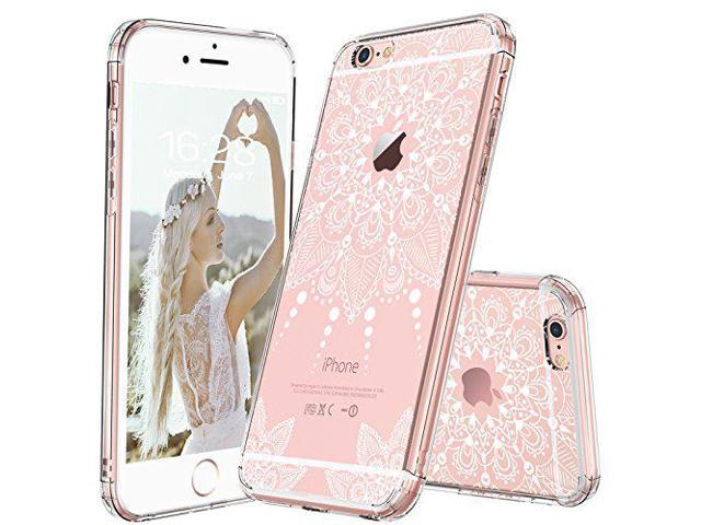 innovative design 095c2 258ca MOSNOVO iPhone 6S Plus Case/iPhone 6 Plus Clear Case, White Henna Mandala  Floral Lace Clear Design Printed Plastic with TPU Bumper Protective Back ...