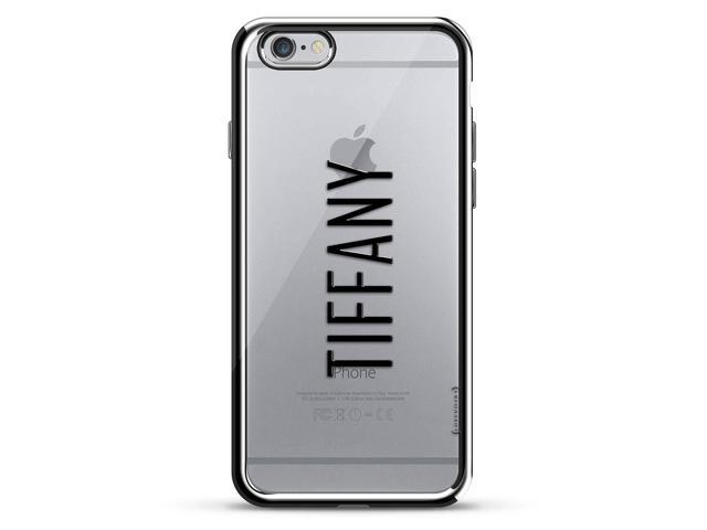 cheap for discount 77743 f9318 Luxendary Designer, 3D Printed, Fashion, High End, Premium, Chrome Trim  Cell Phone Case for iPhone 6/6S - Silver Name: Tiffany, Modern Font Style -  ...