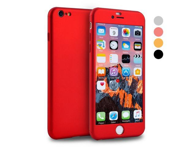 sports shoes 539d3 cd760 iPhone 6s Case, VANSIN 360 Full Body Cover Ultra Thin Protective Hard Slim  Case Coated Non Slip Matte Surface with Screen Protector for Apple iPhone 6  ...