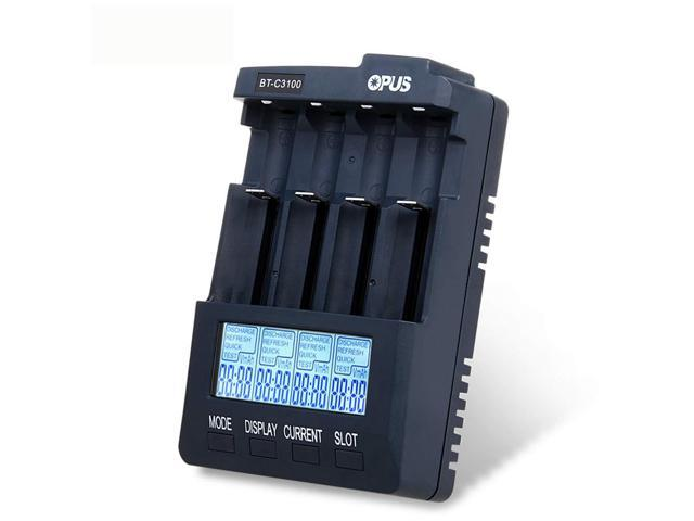 4-Slot 18650 Li-ion Interlligent Battery Smart Charger AC Plug US ship