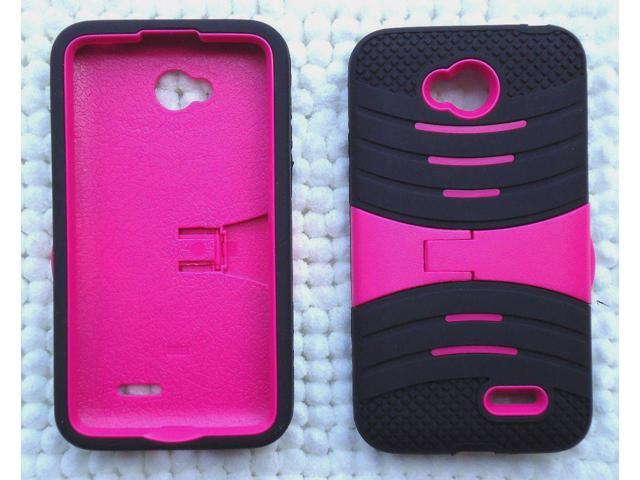 best website 8879e af707 U/C sBLACK/PINK Phone Case Cover For LG Optimus L70/D325 MS323/LG Optimus  Exceed 2/VS450PP/LG Realm/LS620/LG Pulse/LS620Y/LG L41C - Newegg.com