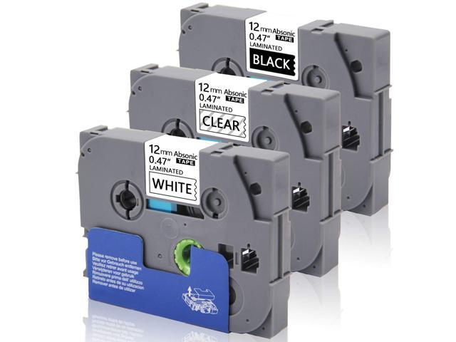 3PK TZe-231 12mm Black//White Label Tapes for Brother P-Touch PT-1230PC D210 H100