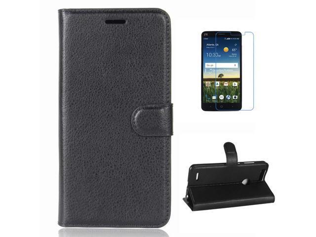 ZTE Blade Z Max Case, ZTE Sequoia Case, ZTE Blade Zmax Pro 2 Case, ZTE Z982  Case, Mellonlu Premium PU Leather Flip Fold Stand Cover with Card Holder