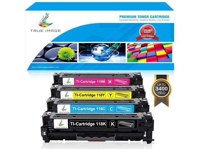 Yellow LBP 7200UNIV with HP CC530 Series MF8350 2659B001AA InkSurf Compatible Toner Replacement for 118 Works with: imageCLASS MF8350CDN CC532A