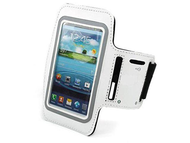 best service 64652 5068c White Armband Sports Gym Workout Cover Case Running Arm Strap Band Pouch  Neoprene for iPhone 8 PLUS - BLU R1 Plus - Huawei Honor 6X - Huawei Mate 9  - ...