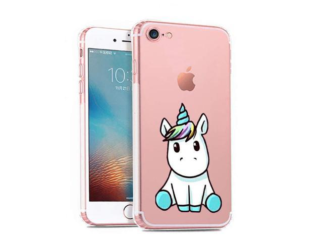iPhone 7 Case,Cute Mythical Creatures Unicorn Pattern on Soft TPU ...