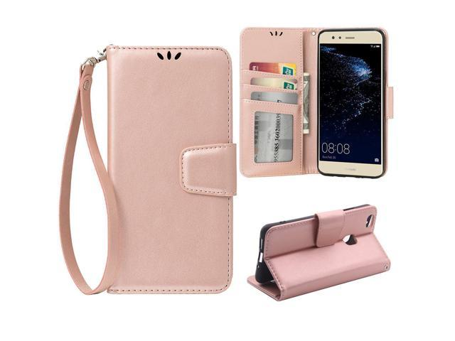 best cheap a0050 ab49c Flip case for Huawei P10 Lite 5.2 Inch, Scratch-Proof Leather Wallet Stand  Cover with Card Slots Cover Phone Case Protector for Huawei P10 Lite 5.2 ...