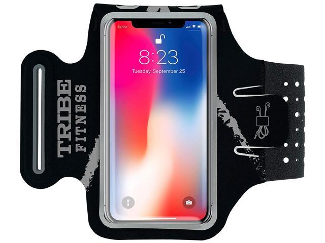 size 40 07ff9 38c0c TRIBE Premium Running Armband & Phone Holder for iPhone X, Xs, Xs Max, Xr,  8, 7, 6, Plus Sizes, Galaxy S9, S8, S7, S9/S8 Plus, Note with Adjustable ...