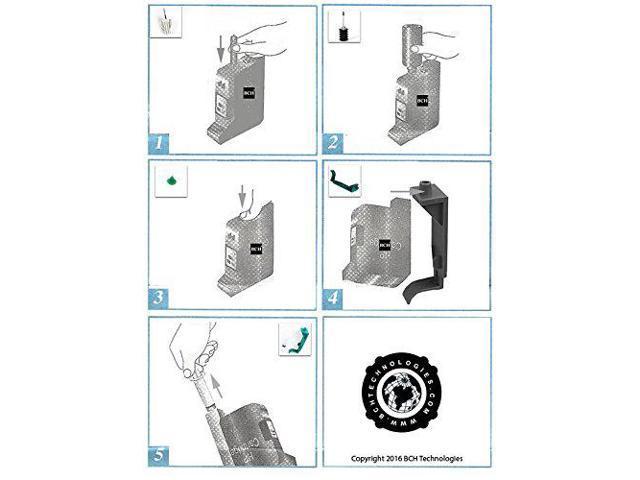 Ink Refill Kit by BCH Compatible to HP 15 45 Black Cartridge Deskjet Printer H1045B 40