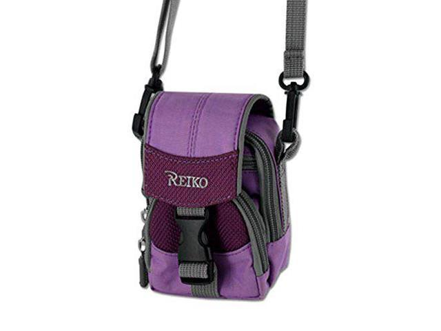 newest f08d4 a392b Traveling Case Purple with Shoulder Neck Strap, 3 compartments, Belt Loop  for Doro PhoneEasy 626. - Newegg.com