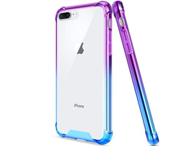 Salawat for iPhone 7 Plus Case, Clear iPhone 8 Plus Case Cute Anti Scratch  Slim Phone Case Cover Reinforced TPU Bumper Shock Absorption Protective