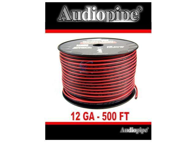 12 Gauge 500 Feet Audiopipe Red Black Copper Clad Speaker Wire Zip Cable 12  Volt - Newegg com