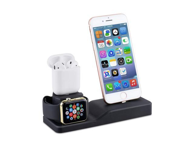 another chance 812cd 094d3 Charging Stand for Apple Watch, Tendak 3 in 1 Silicone Charging Dock  Station for AirPods, 38mm and 44mm Apple Watch Series 1/2/3/4, iPhone X/8/8  Plus/ ...