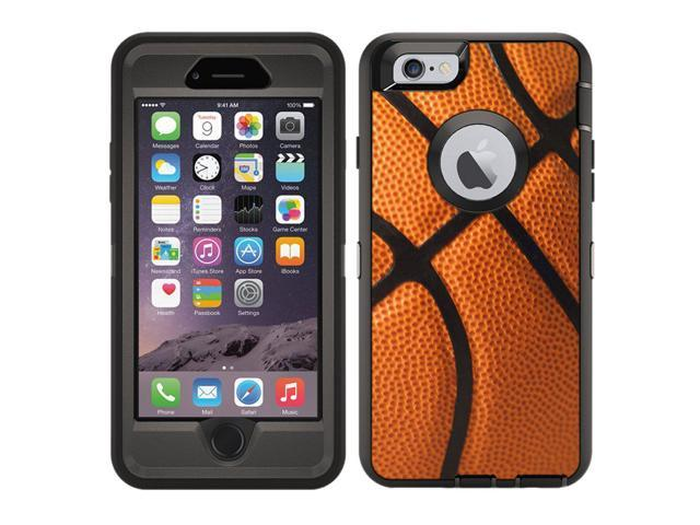 on sale 0191b 23d8f Protective Designer Vinyl Skin Decals/Stickers for OtterBox Defender iPhone  6 / iPhone 6S Case -Basketball Design Patterns - Only Skins and NOT Case -  ...