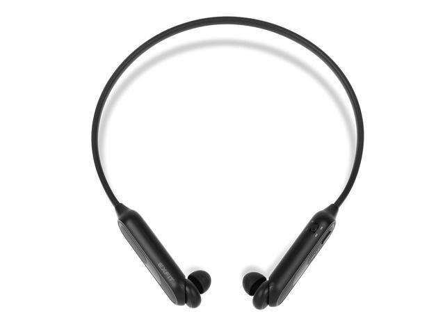 EXFIT BCS-A10 Wireless Bluetooth Headphones, Retractable Earbuds, Splash  and Sweat Resistant, Siri and Google Assistant Compatible, Carry Pouch, 10