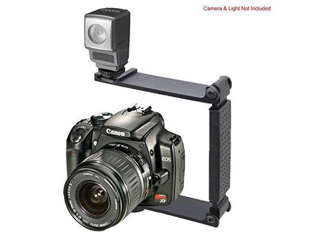 Aluminum Mini Folding Bracket for Canon PowerShot G5 X Accommodates Flashes, Lights Or Microphones