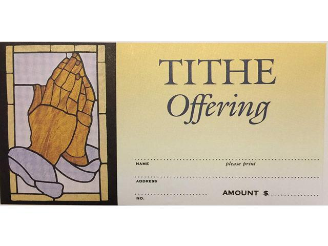 Tithe Offering Envelopes Praying Hands Package Of 100