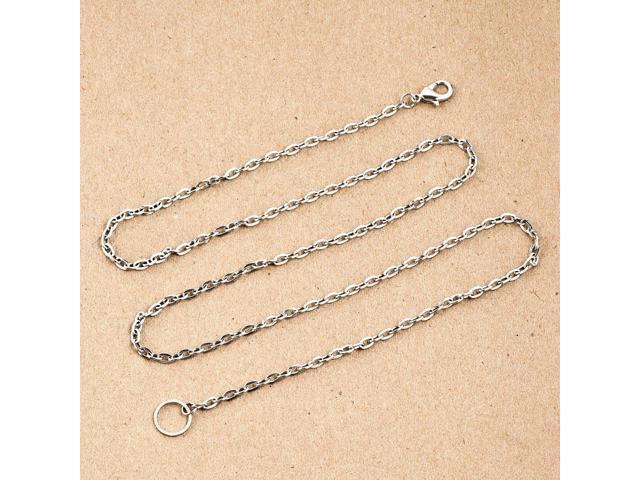 ThirdTimeCharm Office Lanyard Necklace Badge ID Holder Jewelry Snap Charm Pendant