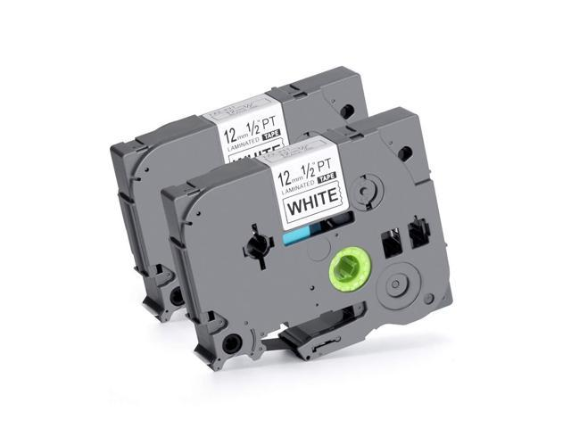 """TZ-231 TZe-231 Black on White Label Tape For Brother P-Touch PT-550 E550W 0.47/"""""""