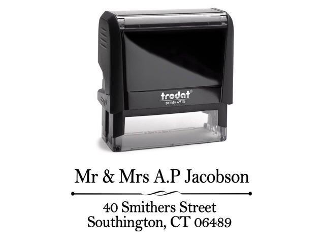 Office Address Stamper Custom Self Inking Stamp Rubber Letter Personalized Kit