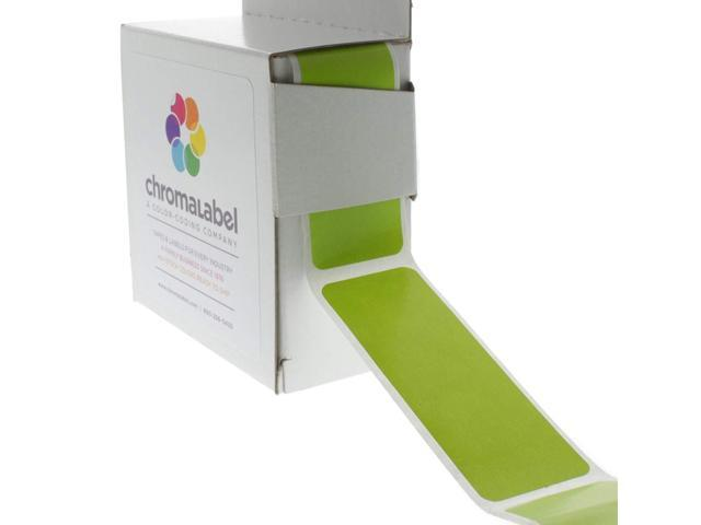 Chromalabel 1 X 3 Inch Color Code Labels 250 Dispenser Box