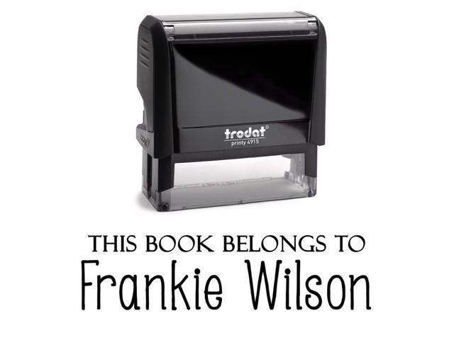 This Book Belongs To Personalized Self Inking Stamp Custom