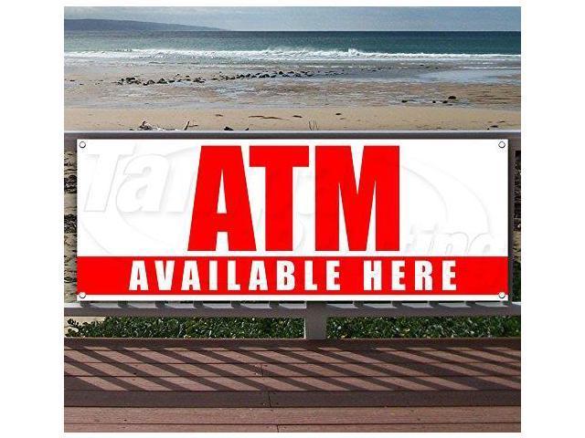 ATM INSIDE Advertising Vinyl Banner Flag Sign Many Sizes Available USA