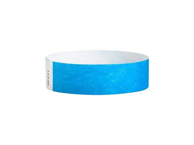 photo relating to Printable Wristbands for Events known as WristCo Neon Blue 3/4 Inch Tyvek Wristbands - Top quality Black Gentle Protection 500 Rely Paper Wristbands For Gatherings -