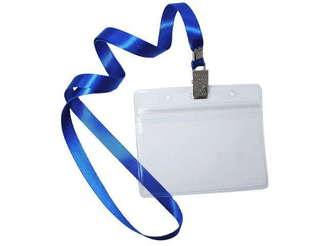 Name Tags,Bird Fiy 50 Pcs Waterproof Type Top Quality Clear Plastic  Horizontal Name Tag Badge Id Card and 50 Pcs Blue Lanyard - Newegg com
