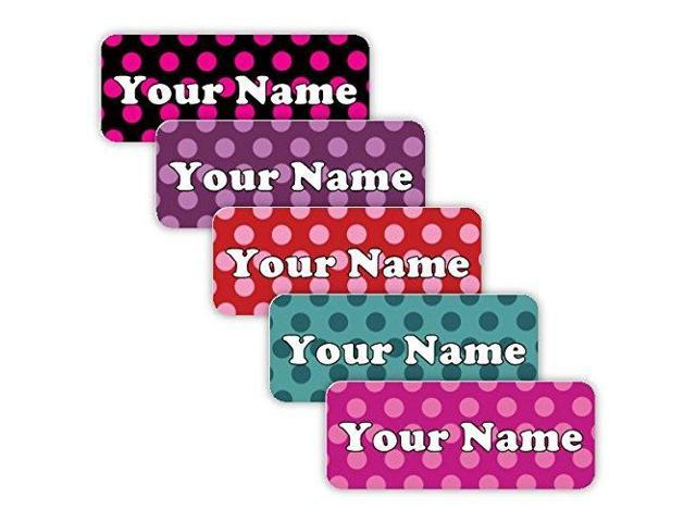 Original Personalized Peel and Stick Waterproof Custom Name Tag Labels for  Adults, Kids, Toddlers, and Babies – Use for Office, School, or Daycare