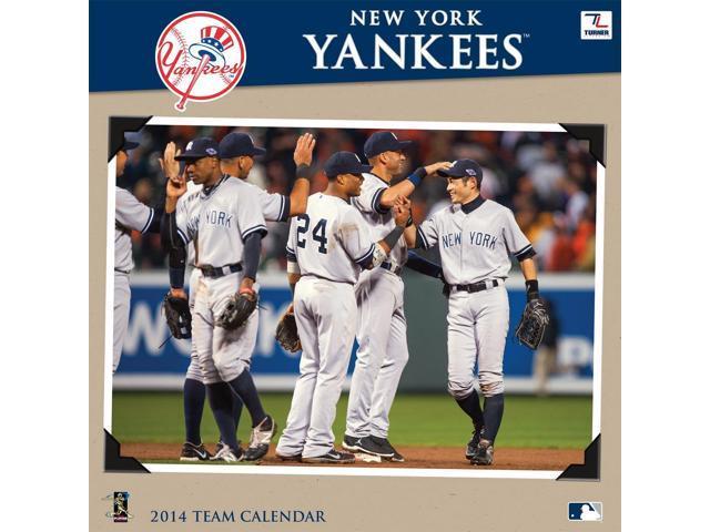 premium selection 62144 635e2 Turner - Perfect Timing 2014 New York Yankees Team Wall Calendar, 12 x 12  Inches (8011424) - Newegg.com