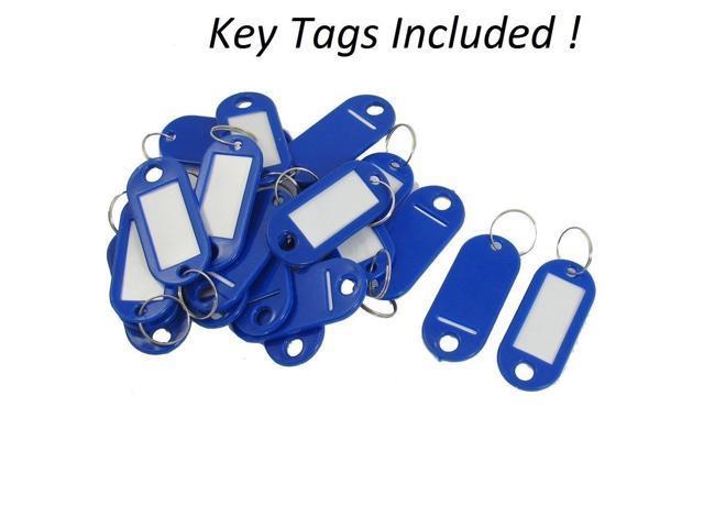 AdirOffice Key Steel Security Sorage Holder Cabinet Valet Lock Box 30 Key, White