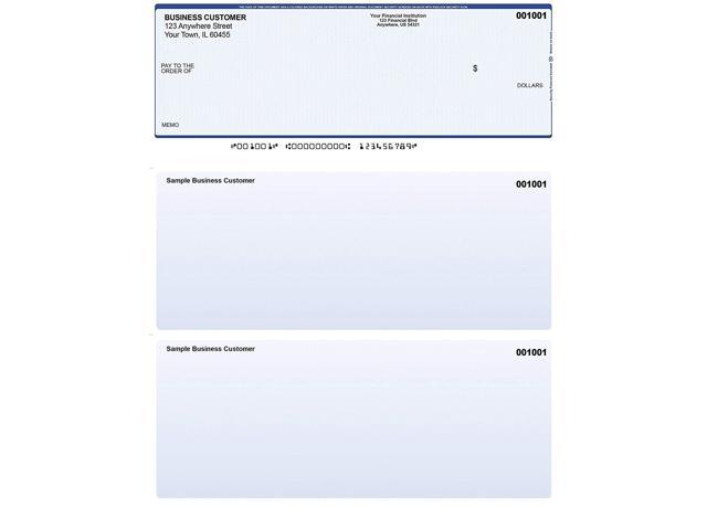 image about Quickbooks Printable Checks titled Blue Protection Laptop or computer Assessments - 500 Published Laser Personal computer Voucher Tests - Suitable for Quickbooks -