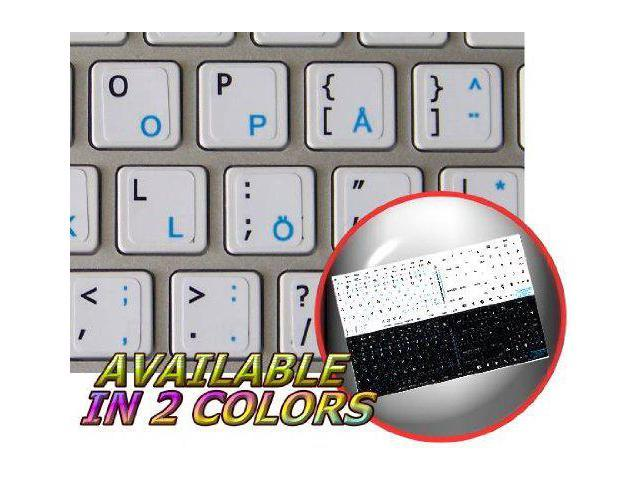 Apple Dvorak Sticker for Keyboard Blue Lettering Transparent Background is Compatible with Apple