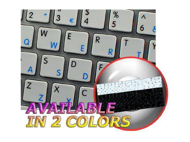 Laptop and Notebook MAC NS Portuguese English Non-Transparent Keyboard Labels White Background for Desktop