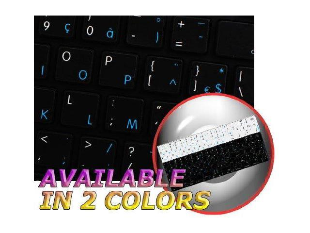 MAC NS FRENCH BELGIAN - ENGLISH NON-TRANSPARENT KEYBOARD STICKERS BLACK  BACKGROUND FOR DESKTOP, LAPTOP AND NOTEBOOK - Newegg com