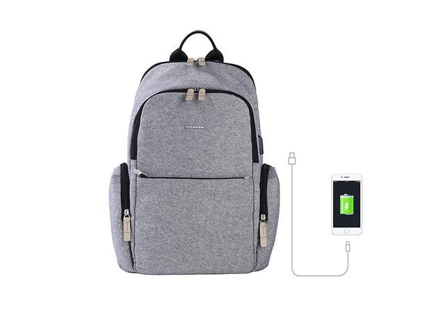 Moonsus Everyday Laptop Backpack 15 Computer Bag For Men And Women Gray Newegg