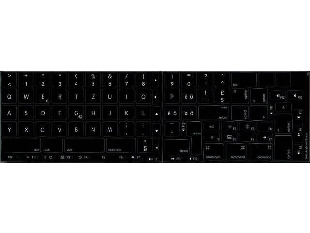 Naija 4Keyboard Yoruba Non-Transparent Stickers for Keyboard ON Black Background