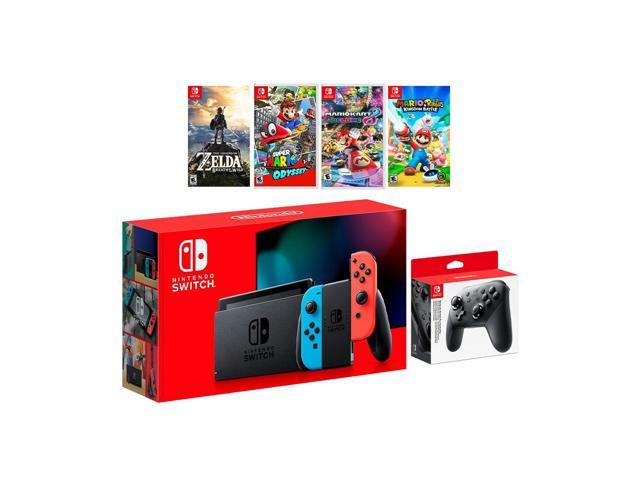 2019 New Nintendo Switch Red Blue Joy Con Console Set Pro