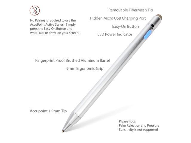 Broonel Grey Fine Point Digital Active Stylus Pen Compatible with The ASUS Chromebook Flip C434TA 14 Inch