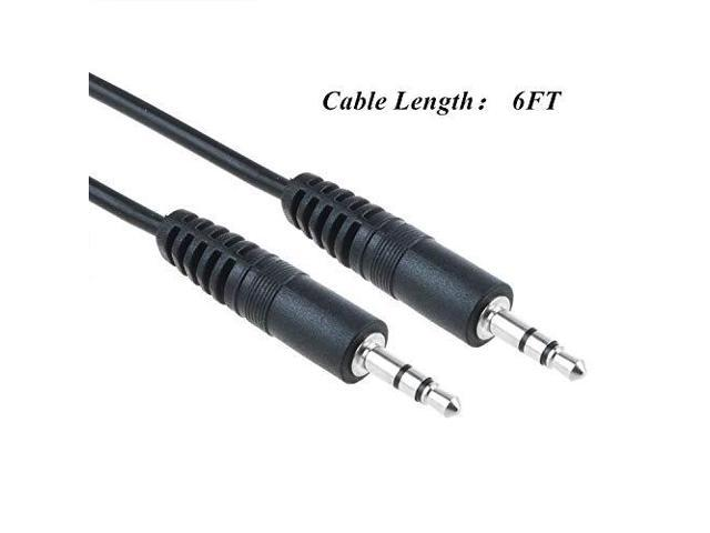 Same Day Free Shipping 3.5MM Stereo Connection Cable 6ft Black HYPE