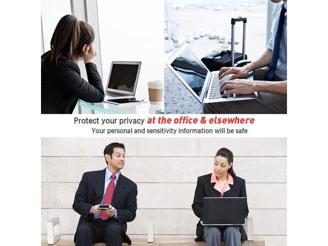 16:9 Information Protection Privacy Filter for Desktop Laptop//Computer Widescreen Monitor Black Byhoway 13.3 Inch Anti-Glare//Scratch Privacy Screen Protector Film