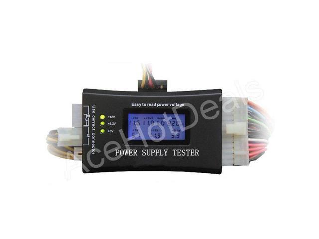 20//24 Pin Digital LCD PC Computer Power Supply Tester for ATX PCI-E SATA HDD