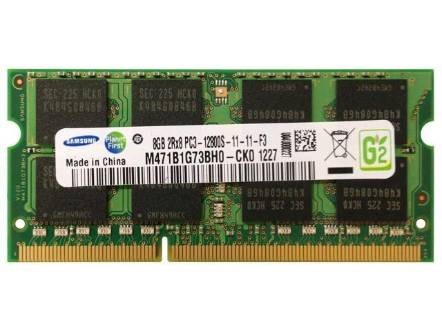 Samsung 8gb Pc3 12800 Ddr3 1600 204 Pin Sodimm Laptop Memory Module M471b1g73bh0 Ck0 Newegg Com