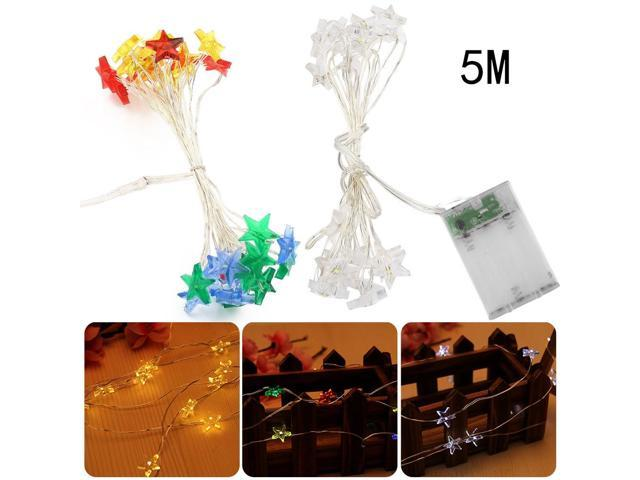 5m 50 Led Star String Fairy Lights For Wedding Decorations Home Outdoor Christmas Tree Decorations Christmas Lights Indoor Newegg Com