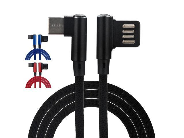 2018 Fashion New Braided 90 Degree Right Angle Micro USB 2.0 / USB 3.1 Type-C Fast Data Sync Charger Cable Hot Sale Top Home#35