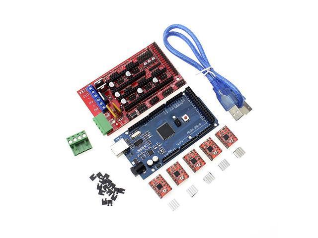 1pcs Mega 2560 R3 1pcs RAMPS 1.4 Controller 5pcs A4988 Stepper Driver Module//RAMPS 1.4 2004 LCD Control for 3D Printer kit