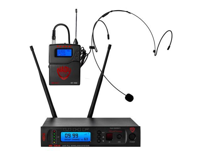 Nady W-1KU HM-10 True Diversity 1000-Channel Professional UHF Headset  Microphone Wireless System With Carrying Case – Autoscan - Automatic  Transmitter